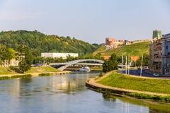 Vilnius over Neris River Stock Photos