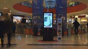Vilnius Ozas schopping domowego centre wewnętrznego widok zdjęcie wideo