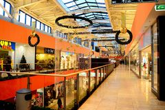 Vilnius Ozas schopping house centre internal view Royalty Free Stock Images