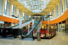 Vilnius Ozas schopping house centre internal view Stock Photo