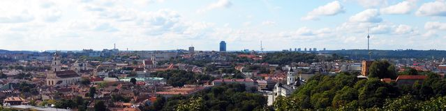 Vilnius panorama. View from the three croses hill Stock Photography