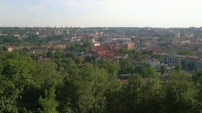 Vilnius panorama royaltyfri foto