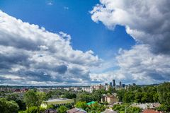 Vilnius panorama. Panorama of Vilnius on a cloudy day Royalty Free Stock Photos