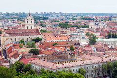 Vilnius panorama. Panorama of Vilnius red roofs Stock Photography