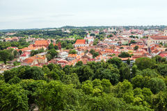 Vilnius panorama. Panorama of Vilnius and its green Stock Photography