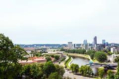 Vilnius panorama. Panorama of Vilnius and river Neris Royalty Free Stock Image