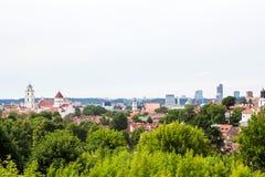 Vilnius panorama. Panorama of Vilnius and its green Stock Photo