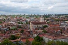 Vilnius panorama Arkivfoto