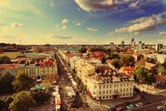 Vilnius panorama Arkivfoton