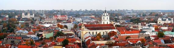 Vilnius panorama in autumn Royalty Free Stock Photo
