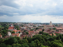 Vilnius. Panorama of Vilnius from the castle hill Royalty Free Stock Image