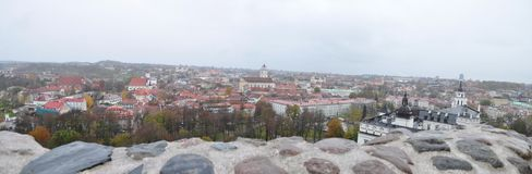 Vilnius. Panorama from Mount Gedimin. Royalty Free Stock Photo