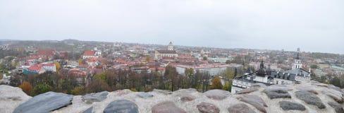 vilnius Panorama vom Berg Gedimin Lizenzfreies Stockfoto