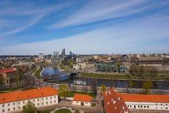Vilnius panorama w słonecznym dniu Zdjęcia Royalty Free