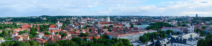 Vilnius, panoramic view of Old town Royalty Free Stock Image