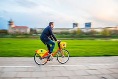 Vilnius public bicycles Aviva Royalty Free Stock Photo