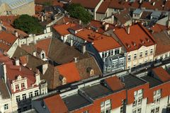 Vilnius rooftops from above royalty free stock photography
