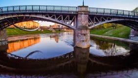 Vilnius river and bridge Royalty Free Stock Images
