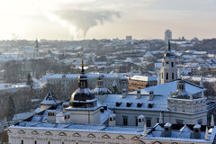 Vilnius roofs winter view Royalty Free Stock Images