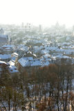 Vilnius roofs winter view stock image