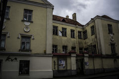 Vilnius ` s ściany obrazy royalty free