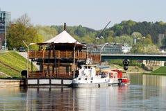 Vilnius ships in the Neris river on April 26, 2014 Royalty Free Stock Image