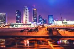 Vilnius shopping centres and skyline Royalty Free Stock Photos