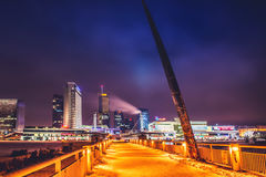 Vilnius skyline at night Stock Images