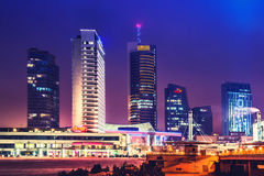 Vilnius skyline at night Royalty Free Stock Photography
