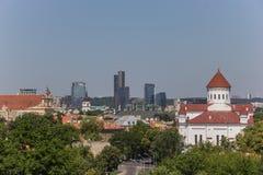 Vilnius skyline Stock Images