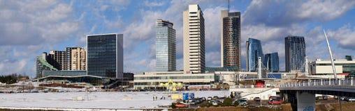 Vilnius skyscrapers Stock Images