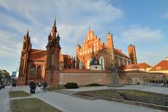 Vilnius St Anne und Bernardine Churches stockbild