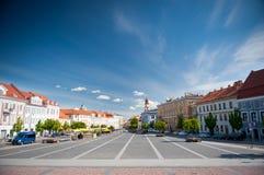 Vilnius stad Hall Square Arkivbild
