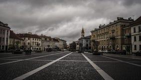 Vilnius stad Hall Square Fotografering för Bildbyråer