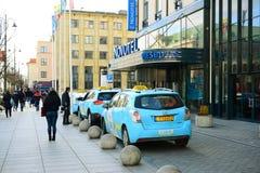 Vilnius stadsGediminas gata på morgontid royaltyfri fotografi