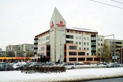 Vilnius-Stadt Kardiolita-Medizinmitte in Pasilaiciai Stockbild