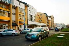 Vilnius-Stadt Pasilaiciai-Bezirk zur Herbstzeit Lizenzfreies Stockfoto
