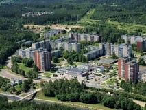 Vilnius-Stadt vom Fernsehkontrollturm Lizenzfreie Stockfotografie