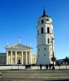 Vilnius-Stadthauptstadt des Litauen-Kathedralenplatzes Stockbilder
