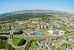 Vilnius-Stadthauptstadt von Litauen-Vogelperspektive Lizenzfreies Stockbild