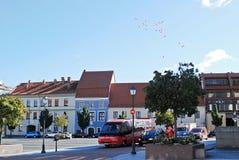 Vilnius-StadtRathausplatz am 24. September 2014 Stockfotografie