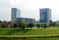 Vilnius-Stadtzentrum geschossen von Zverynas-Bezirk Lizenzfreie Stockfotografie