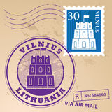 Vilnius stamp set Stock Photography