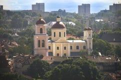 Vilnius stara grodzka panorama, Lithuania Obrazy Royalty Free