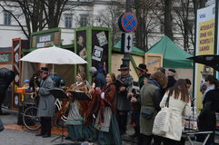 Vilnius-Straße angemessen stockfotografie