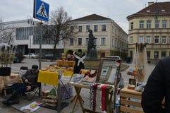 Vilnius-Straße angemessen stockbild