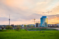 Vilnius at sunset Royalty Free Stock Image