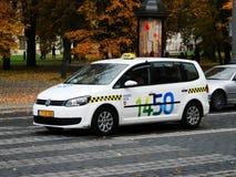 Vilnius taxi - Vilnius veza - in the city street Stock Image