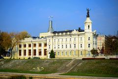 Vilnius technical museum shot from oposite river side Royalty Free Stock Photos