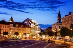 Free Vilnius, The Capital Of Lithuania At Sunset, A Street And Square Stock Photography - 124774042